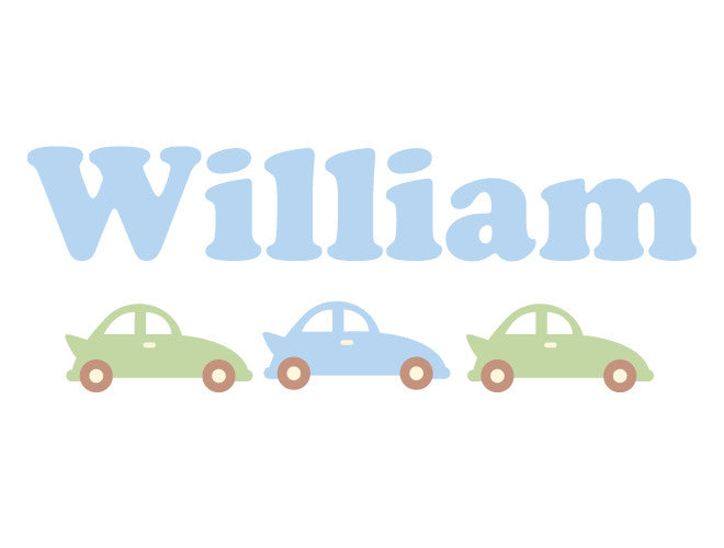 Personalized Car Wall Decal