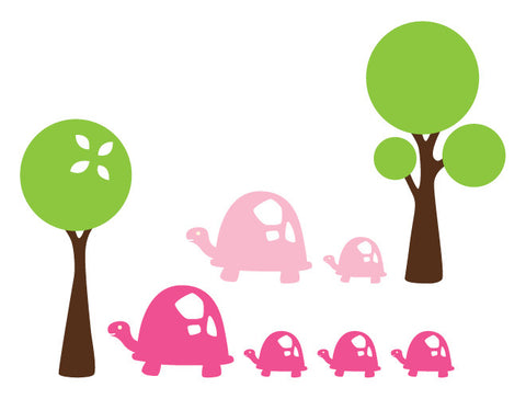 Turtle Parade Wall Decals