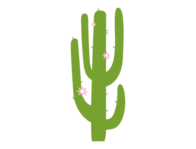 Saguaro Cactus Wall Decal