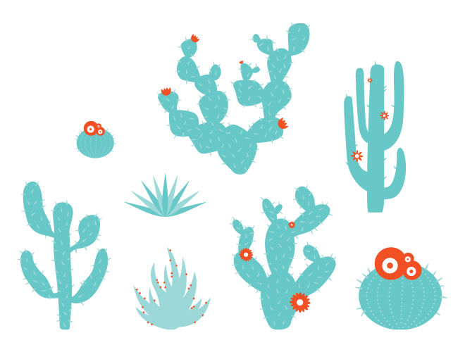 Desert Plants Wall Decals