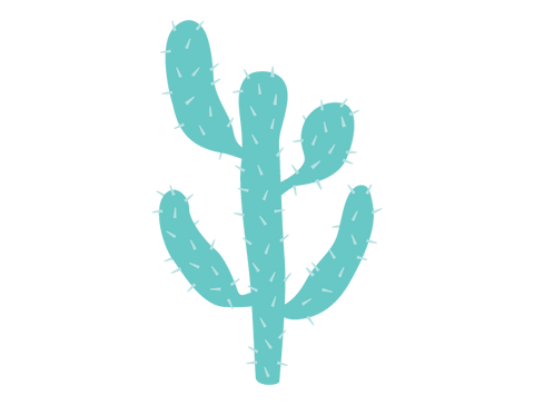 Hedge Cactus Wall Decal