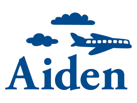 Personalized Airplane Wall Decal