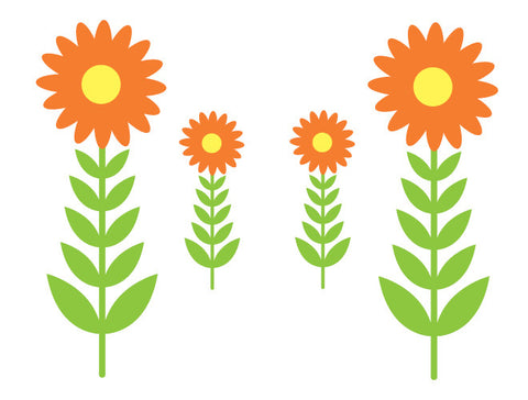 Sunflower Garden Wall Decals