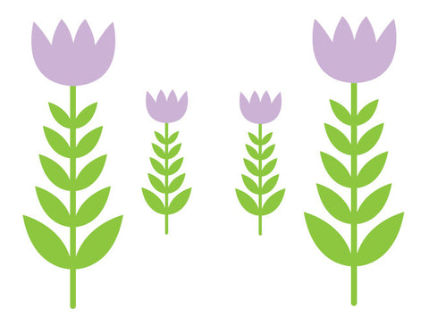 Tulip Garden Wall Decals
