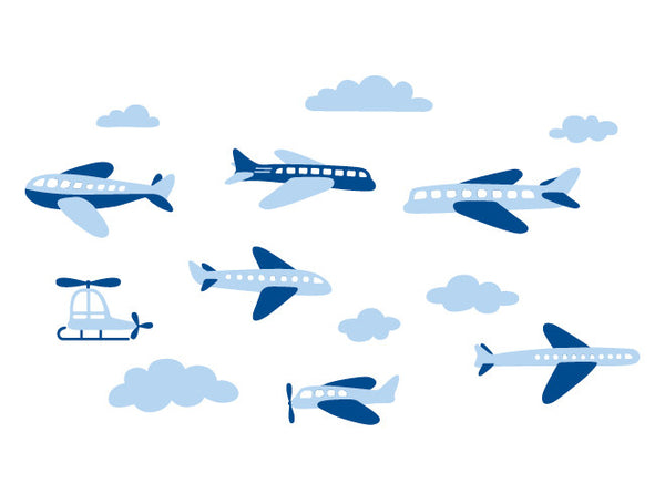 Airplane wall decal mural weedecor for Airplane wall mural