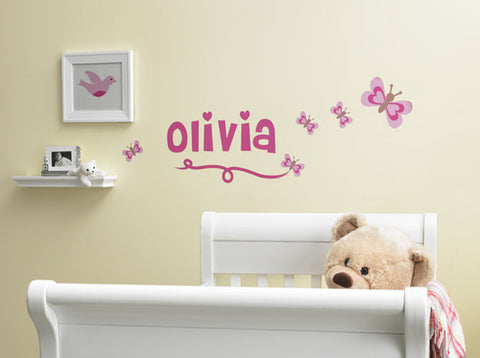 Premium Personalized Butterfly Wall Decal