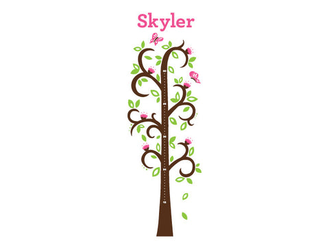 Tree Wall Decal Growth Chart