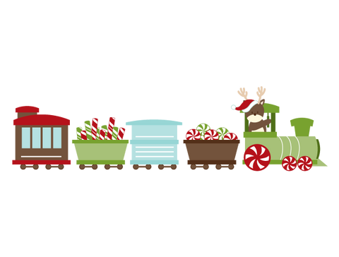 Christmas Train Wall Decal