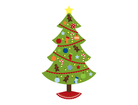 Christmas Tree Countdown Calendar Wall Decal