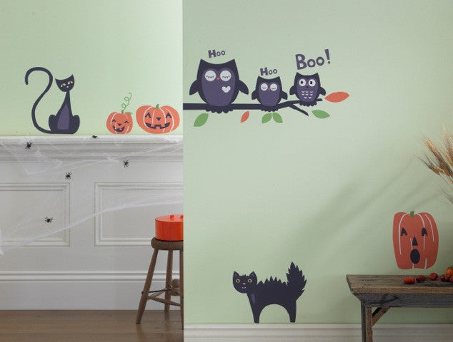 Halloween Black Cat Wall Decal