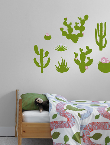 Prickly Pear Cactus Wall Decal