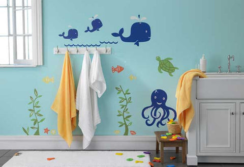 Baby Whales Wall Decal