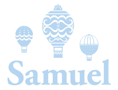 Premium Personalized Hot Air Balloon Wall Decal