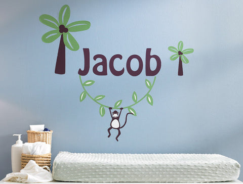 Personalized Monkey Wall Decal
