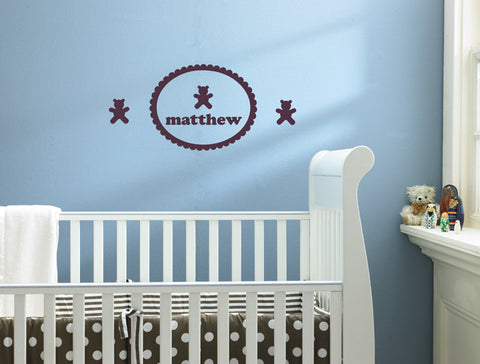 Premium Personalized Bear Wall Decal