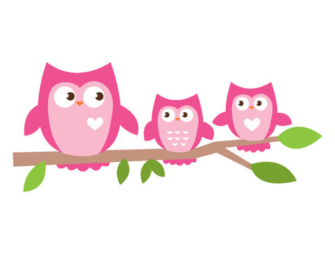 Owl Branch Wall Decal