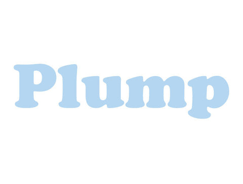 Plump Wall Decal Letters