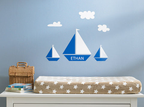 Personalized Boat Wall Decal