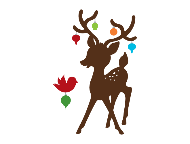 Reindeer Silhouette Wall Decal
