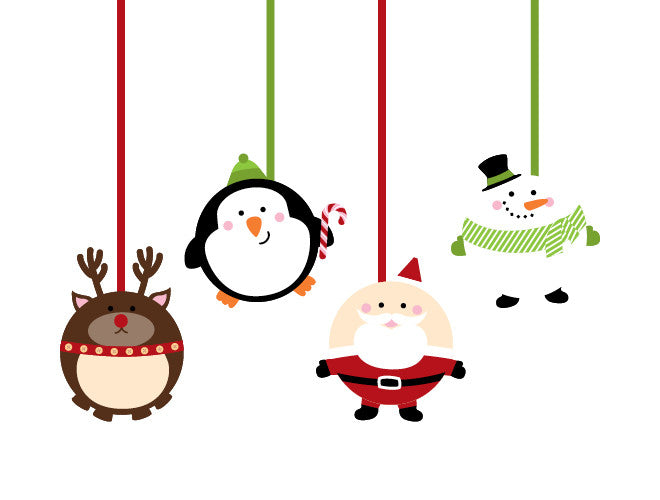 christmas ornament wall decal - Christmas Wall Decal