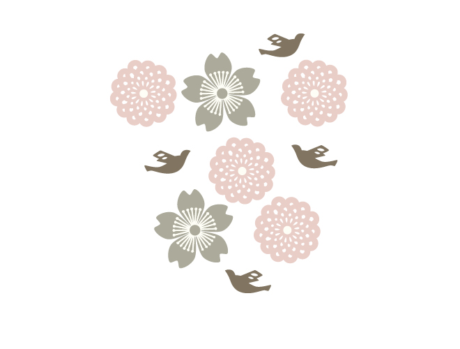 Tori Bird & Flower Wall Decals by Tea