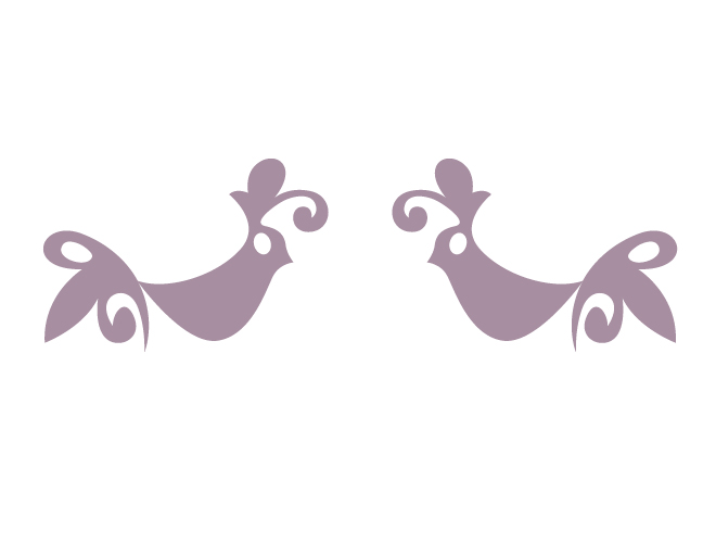 Two Spanish Bird Wall Decals by Tea
