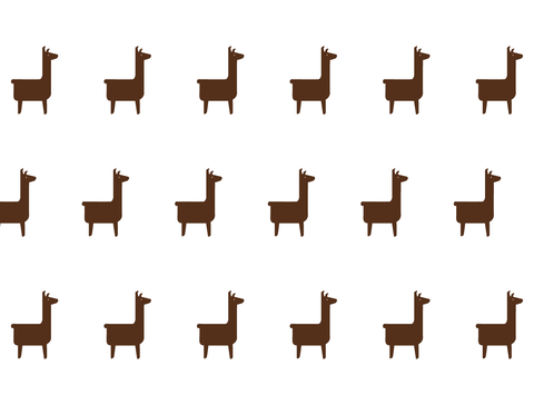 Little Llamas Wall Decal