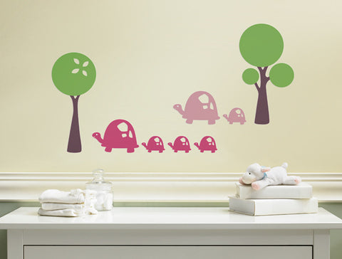 Modern Tree Wall Decal with Accents