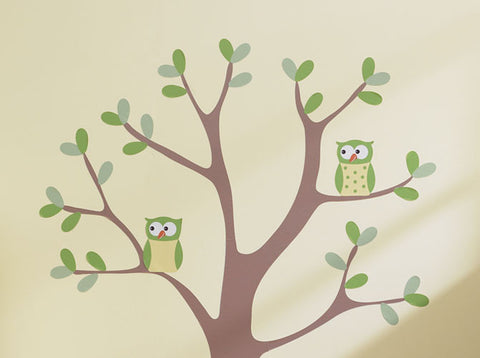 Girl Owl Wall Decal