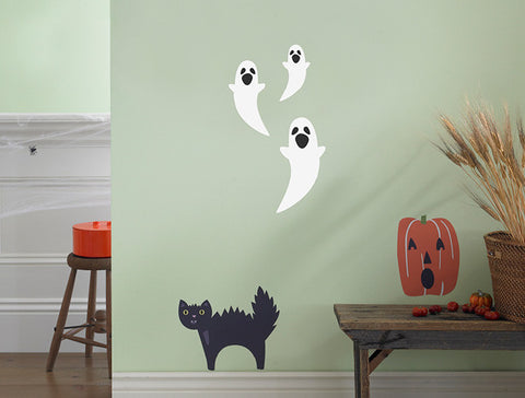 Halloween Howling Ghosts Wall Decal