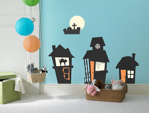 Halloween Haunted Houses Wall Decal