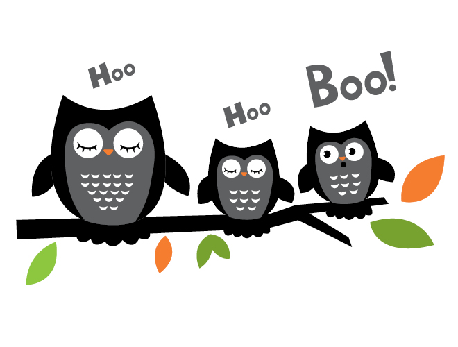 Halloween Owls Wall Decal