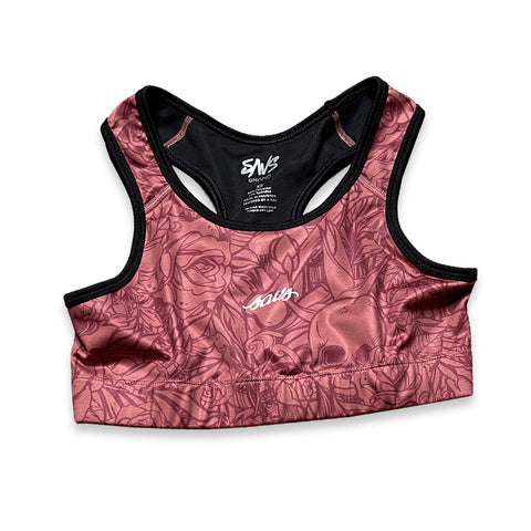 WOMEN'S AUTUMN RUST SPORTS BRA