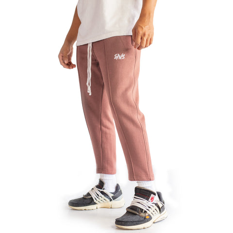 SAVS PREMIUM CROPPED SWEATS - ROSE