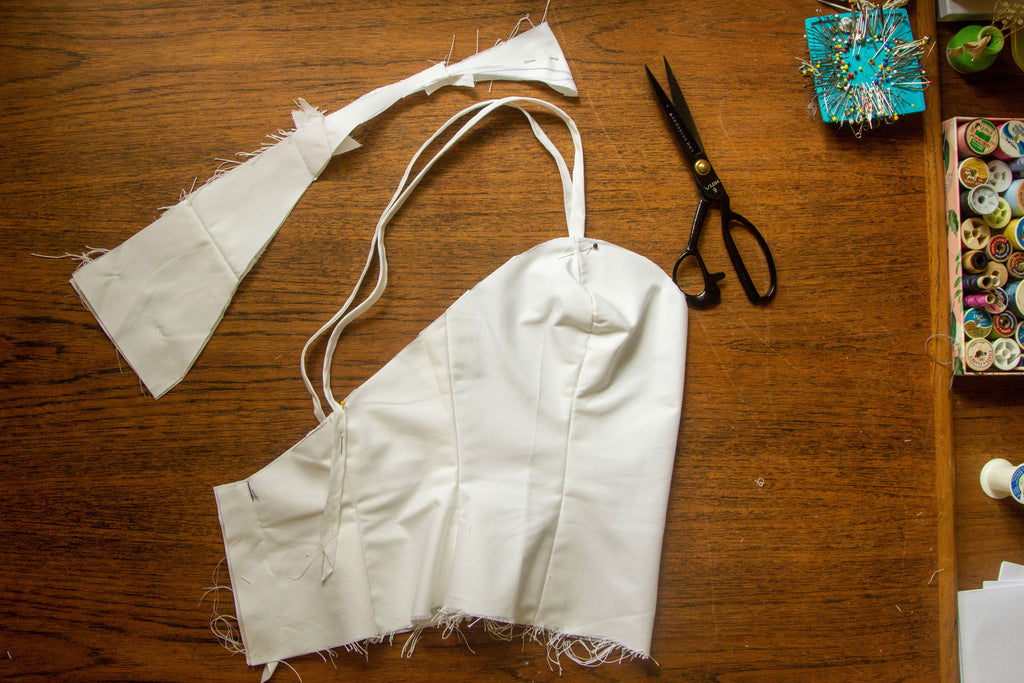 Handmade Wedding Dress: Part 3 - Creating the Corslette Toile