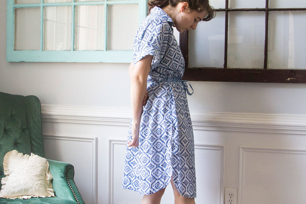Fibers to Fabric: My Blockprinted Dress