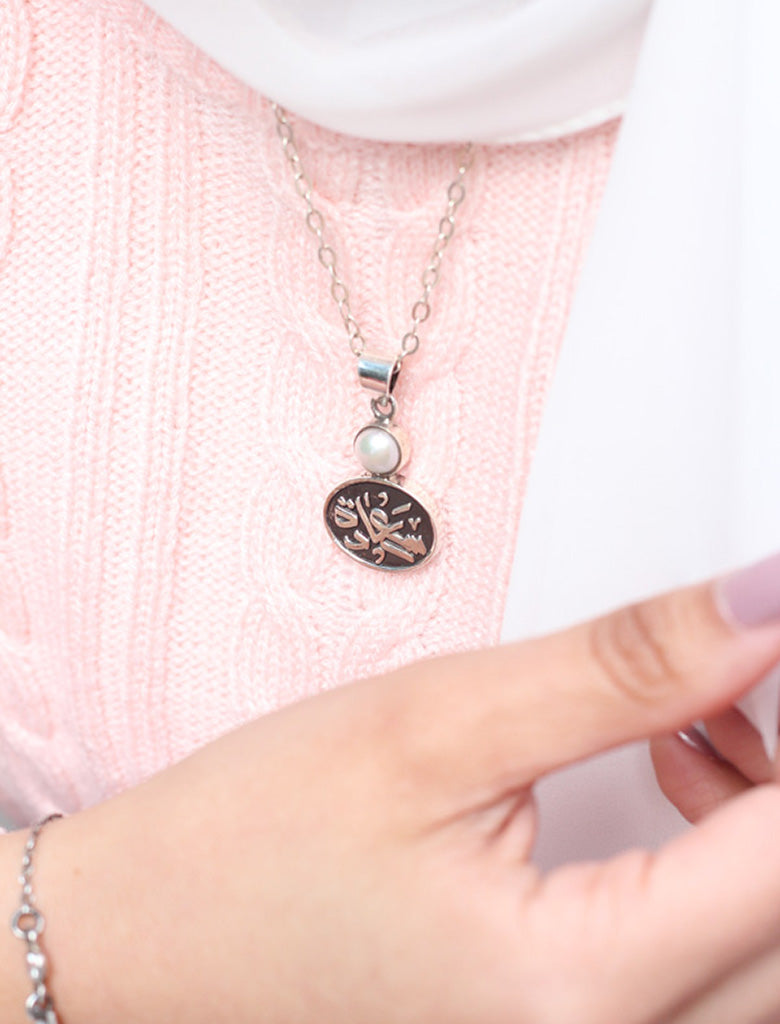 Love  Necklace with pearl