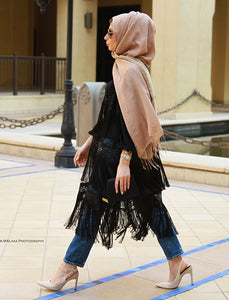 Fringed Lacey Vest