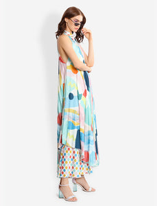 pleated tent dress