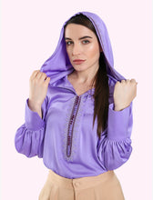 Load image into Gallery viewer, Hood Shirt with Moroccan embroidery