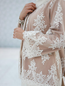 Lace Cardigan with Back Bow