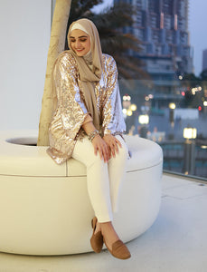 Rose Gold Sequined Cardigan