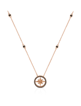 Load image into Gallery viewer, Nova Black Diamond Necklace