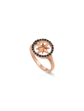 Load image into Gallery viewer, Nova Ring with Black Diamonds
