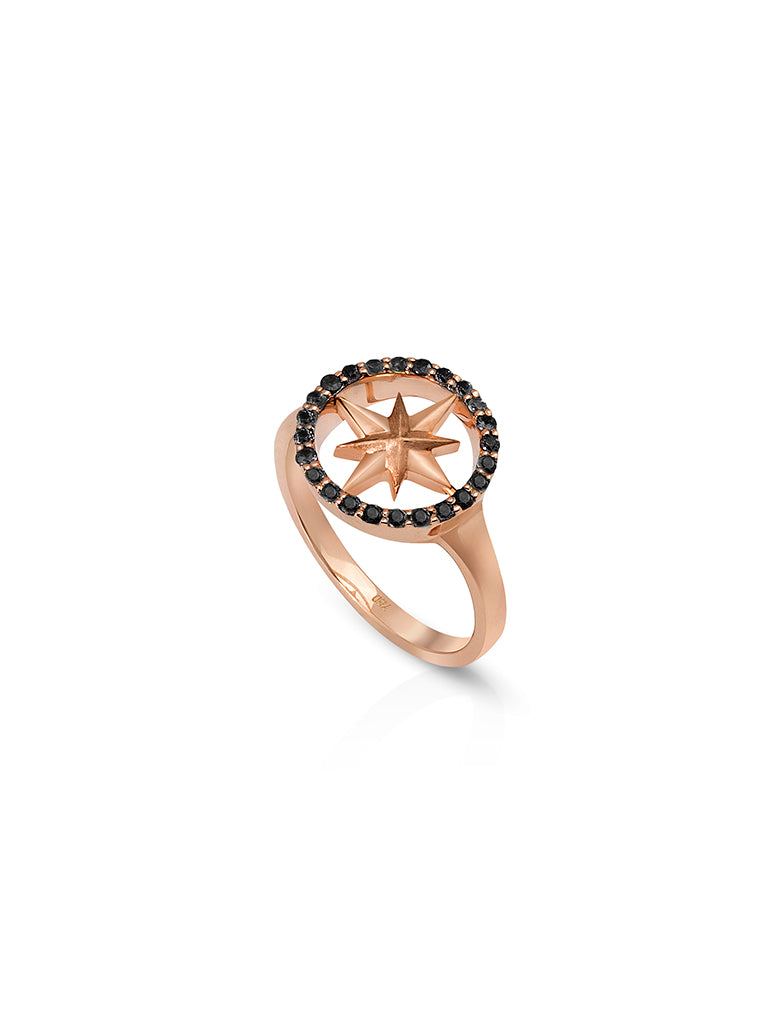 Nova Ring with Black Diamonds