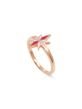 Load image into Gallery viewer, Sirius Ring - Pink enamel, 18K Rose Gold