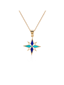 Sirius Necklace - Blue - 18K Yellow Gold
