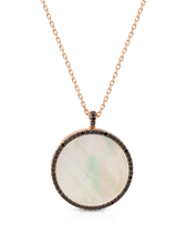 Load image into Gallery viewer, The Wanderlust Locket with Black Spinel and Mother of Pearl