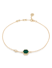Load image into Gallery viewer, HIVE MALACHITE BRACELET