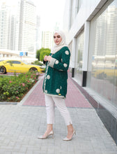Load image into Gallery viewer, Embroidered Green Cardigan